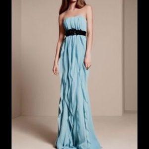 Vera Wang blue Bridesmaid strapless dress